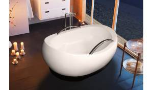 Aquatica AdmireMe-Wht Freestanding Light Weight Stone Bathtub