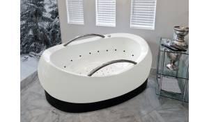 Aquatica AdmireMe-Wht Relax Light Weight Stone Air Massage Bathtub