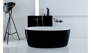Aquatica Purescape™ 174A-Blck-Wht Relax Air Massage Bathtub