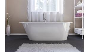 Aquatica Inflection A-F-Wht™ Freestanding Cast Stone​ Bathtub