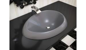 Aquatica Organic-Sink-Coffee™ Cast Stone Washbasin