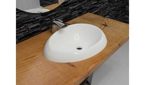 Aquatica Organic-Sink-Wht™ Cast Stone Washbasin
