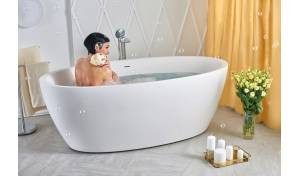 Aquatica Sensuality-Wht™ Freestanding Solid Surface Bathtub