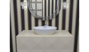 Aquatica Sensuality-Wht Stone Vessel Sink