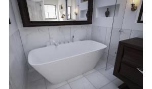 Aquatica Arabella-Wall™ Back To Wall Solid Surface Bathtub