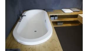 Carol-Wht par Aquatica® baignoire encastrée en acrylique au fini mat