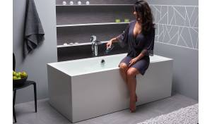 Aquatica Continental-Wht™ (PURESCAPE 714M) Freestanding Solid Surface Bathtub