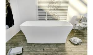Aquatica Elise-Wht™ Freestanding Solid Surface Bathtub