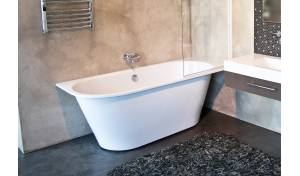 Aquatica Inflection B-L-Wht™ Large Corner Cast Stone​ Bathtub