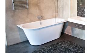Aquatica Inflection B-L-Wht™ Large Corner Cast Stone Bathtub