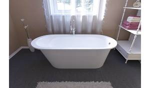 Aquatica Inflection™ A-F-Wht Freestanding Cast Stone​ Bathtub