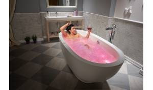 Aquatica Karolina™ Relax Solid Surface Air Massage Bathtub - Fine Matte