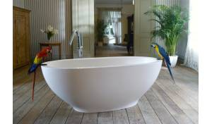 Aquatica Karolina™ Freestanding Solid Surface Bathtub - Fine Matte