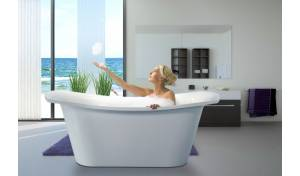 Aquatica LoveMe-Wht™ Freestanding Cast Stone Bathtub