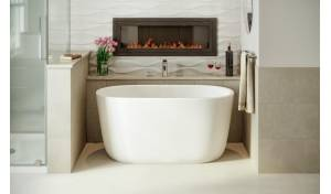 Aquatica Lullaby-Nano-Wht™ Small Freestanding Solid Surface Bathtub