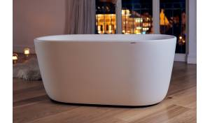 Aquatica Lullaby-Mini-Wht™ Freestanding Solid Surface Bathtub