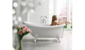 Aquatica Nostalgia-Wht-Stn-Legs™ Freestanding Cast Stone Bathtub