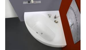 Olivia par Aquatica® baignoire d'angle en acrylique