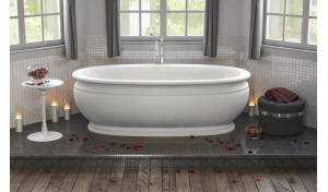 Olympian™ by Savio Classic Freestanding Solid Surface Bathtub