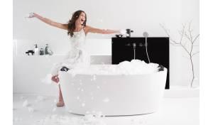 Aquatica Purescape™ 174A-Wht Relax Air Massage Bathtub