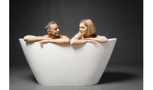 Aquatica PureScape™ 748M-Matte Freestanding Solid Surface Bathtub