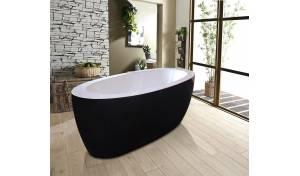 Aquatica PureScape™ 174B-Blck-Wht Freestanding Acrylic Bathtub