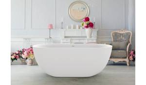 Aquatica Corelia-Wht™ (PureScape 617BM) Freestanding Solid Surface Bathtub