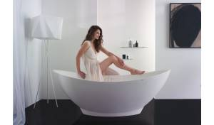 Aquatica PureScape™ 621M Freestanding Solid Surface Bathtub - Fine Matte