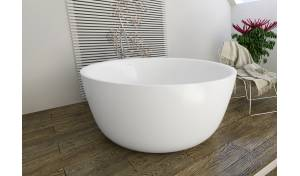 Aquatica PureScape™ 720M Round Freestanding Solid Surface Bathtub