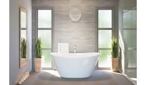 Aquatica PureScape™ 748G-Glossy Freestanding Cast Stone Bathtub