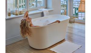 Aquatica Tulip-Wht™ (PureScape 701M) Freestanding Solid Surface Bathtub
