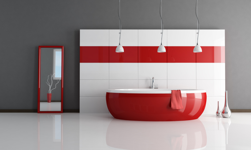 An Absolutely Fabulous Way Of Bringing Red Into Your Bathroom, Without It  Feeling Like Youu0027ve Painted The Bathroom In Blood, Would Be By Making The  Pieces ...